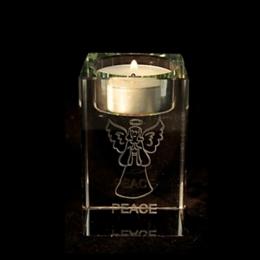 Feng Shui - ingel klaastahukas - teeküünlaalus - Rahuingel - VIIMANE - JUUBELIALLAHINDLUS